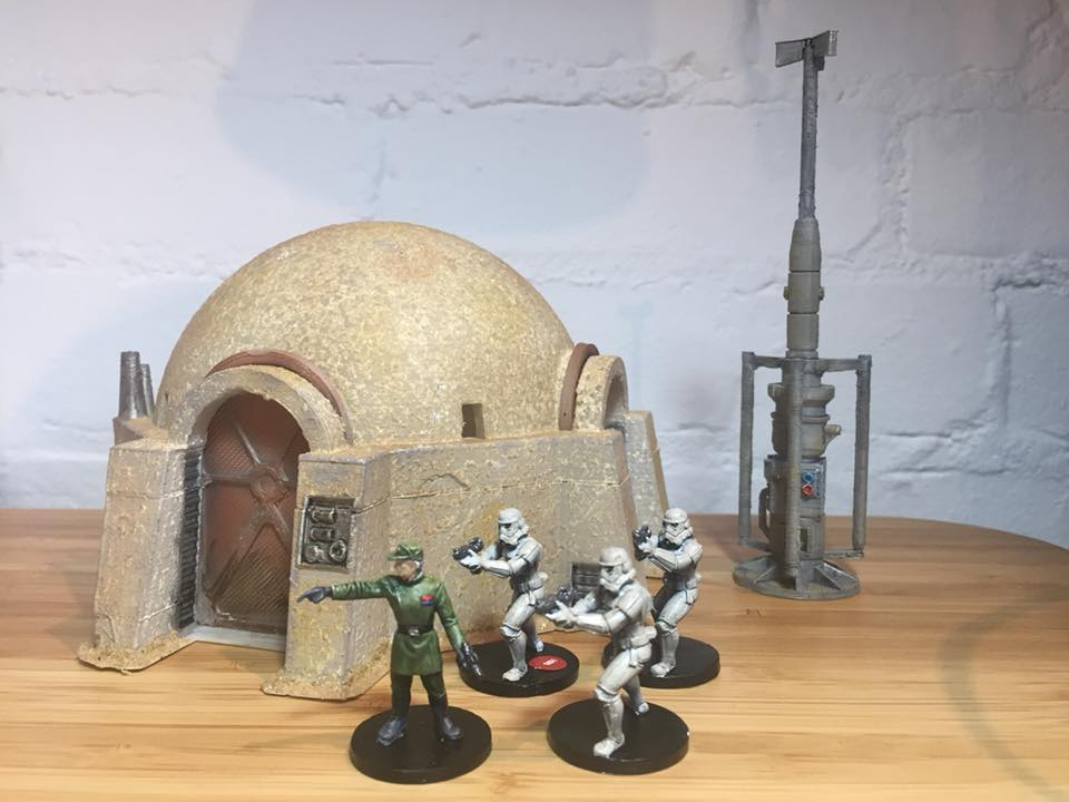 One of our customers painted star wars legion terrain