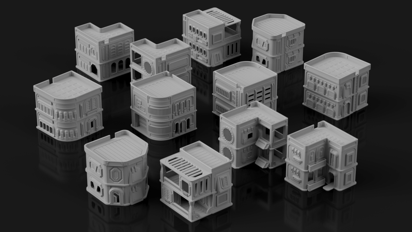 Syllogy's Colonial Settlement Stack Expansion - Digital STL Files