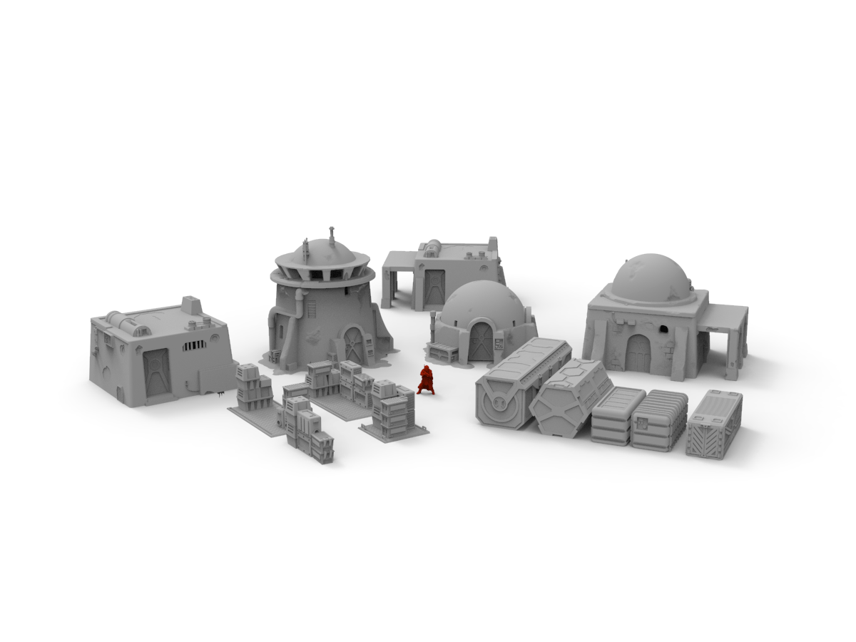 Desert Standard Terrain Bundle - Digital STL Files