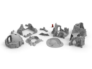 Wrecked Desert Terrain Bundle - Digital STL Files