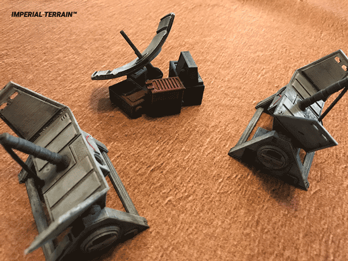 3d printed communication dish objective markers for star wars legion