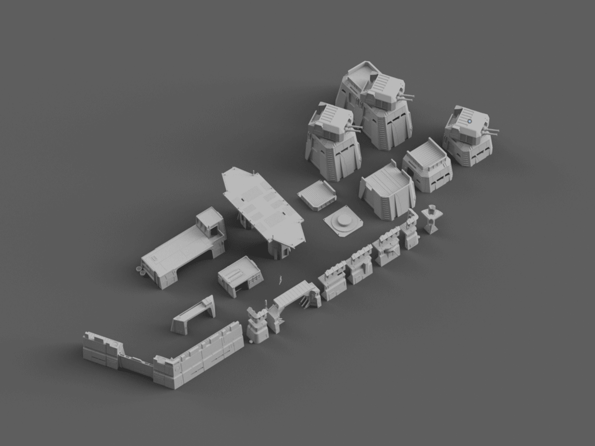 Imperial Base Builder - Digital STL Files