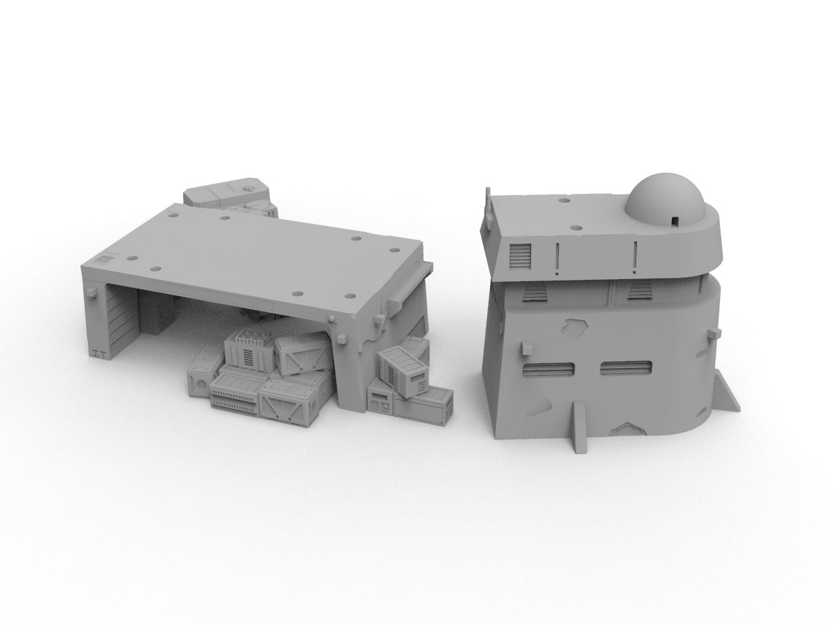 Mechanic's Bay and House Bundle - Digital STL Files