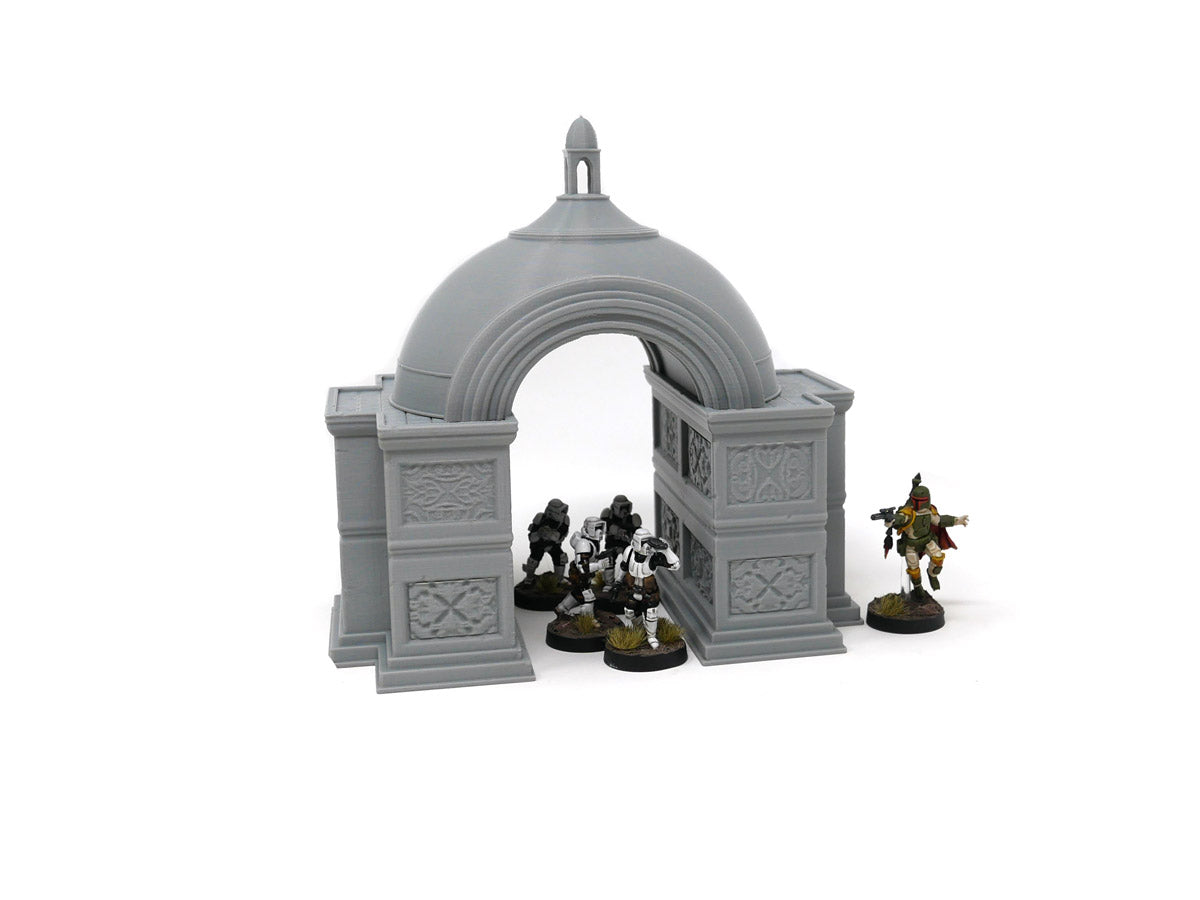 Aristocrat's Domed Arch and Fountain Set