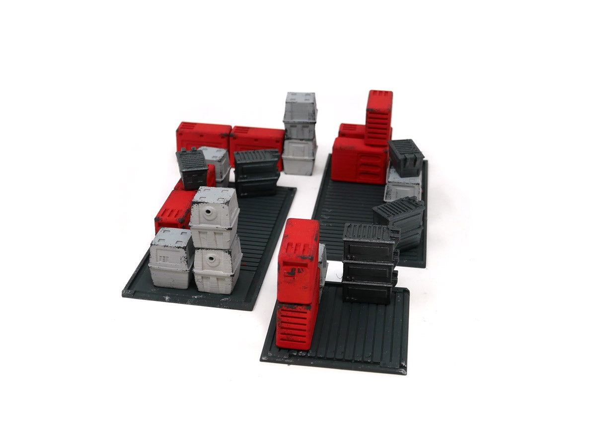 Painted Cargo Pallets - Red Paint Scheme