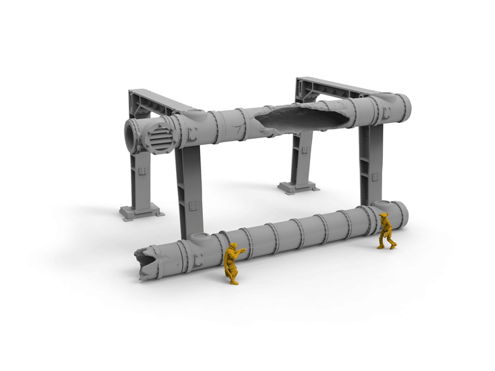 Argon Industrial Pipes - Digital STL Files