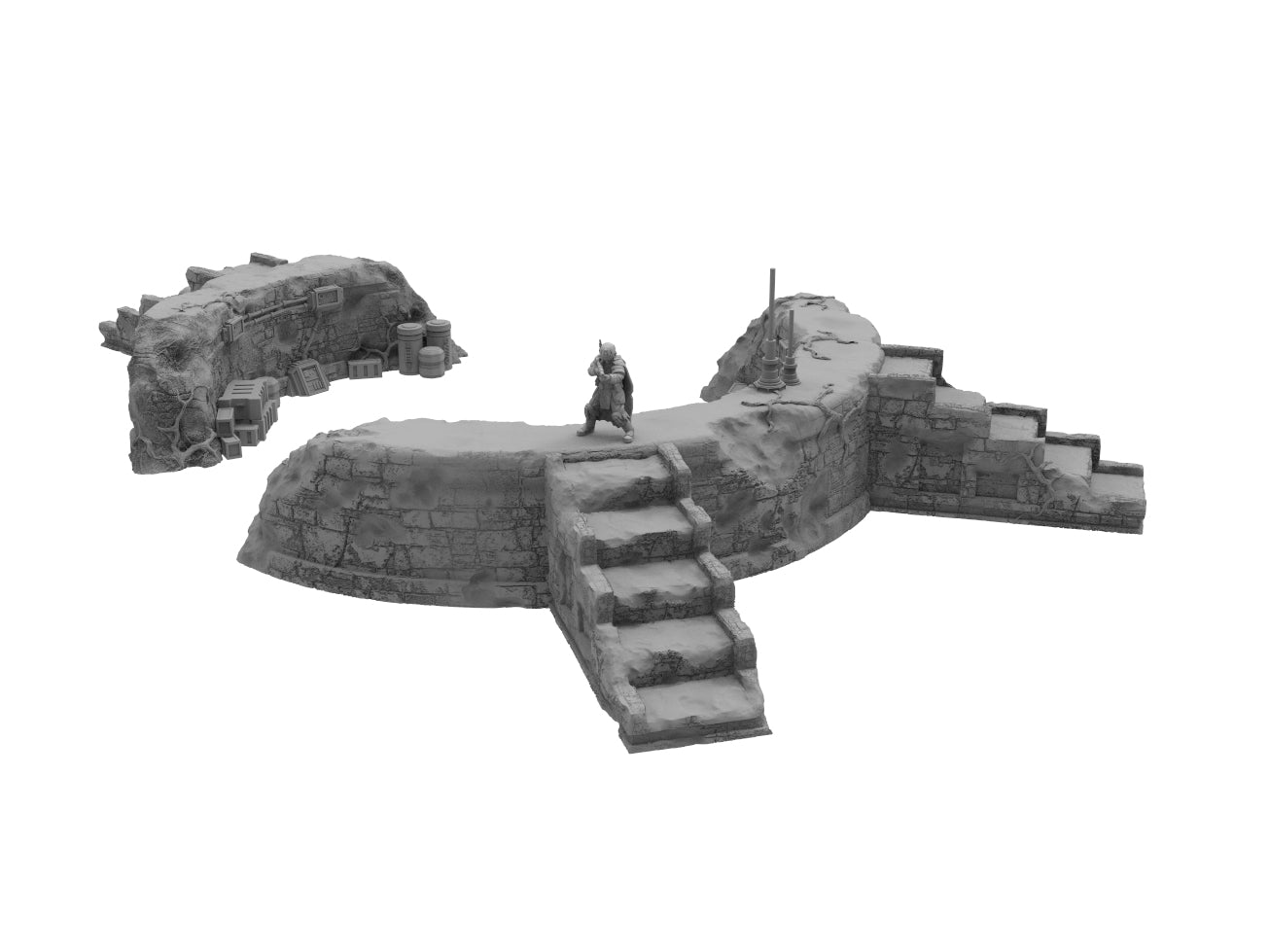 Circle Ruins Bundle - Digital STL Files