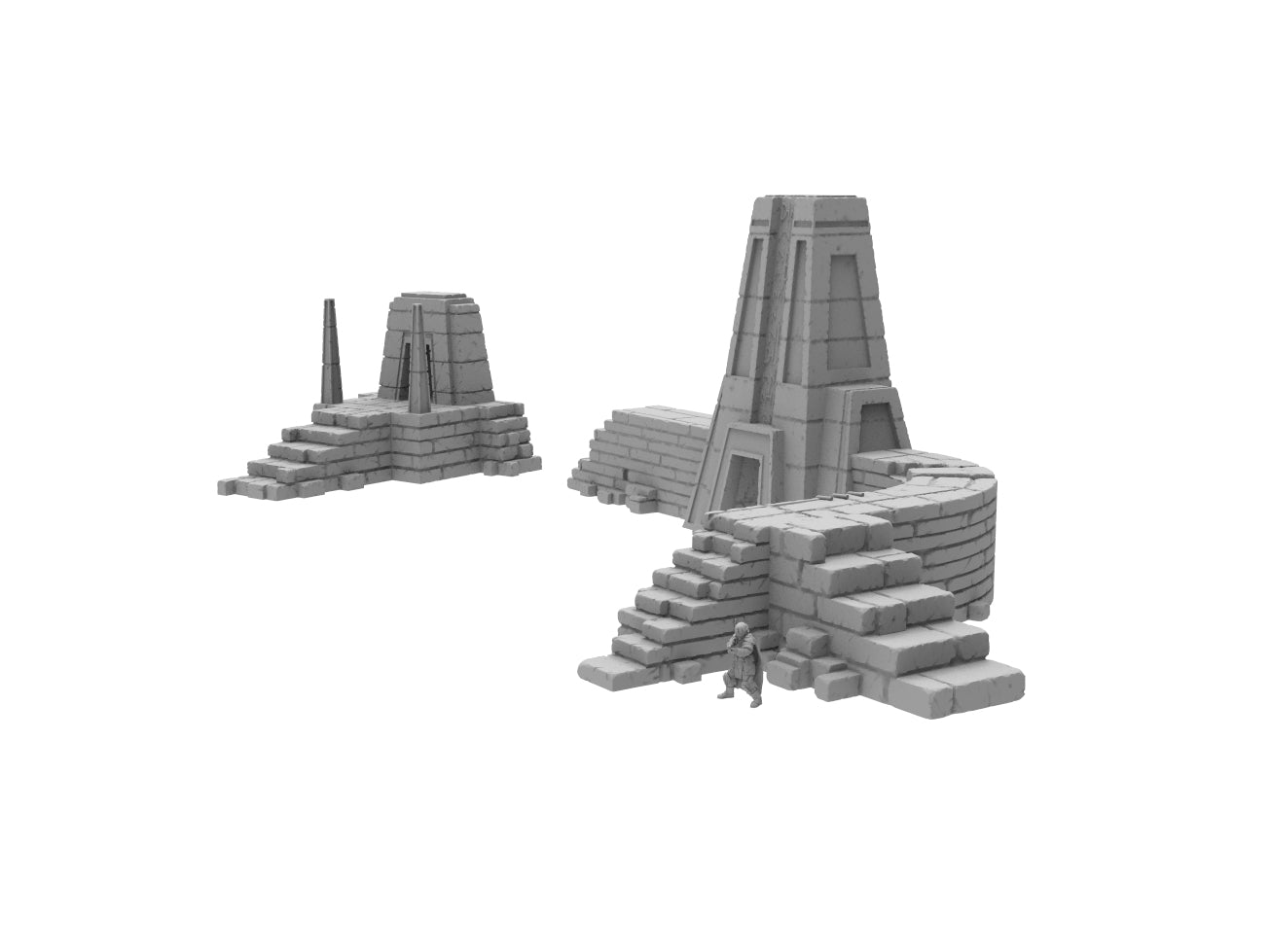 Temple Ruins Bundle - Digital STL Files