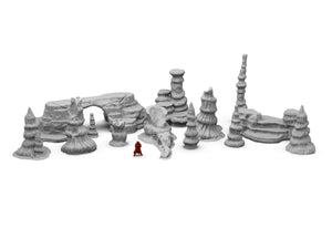 Large Rock Scatter Terrain Set - Digital STL Files