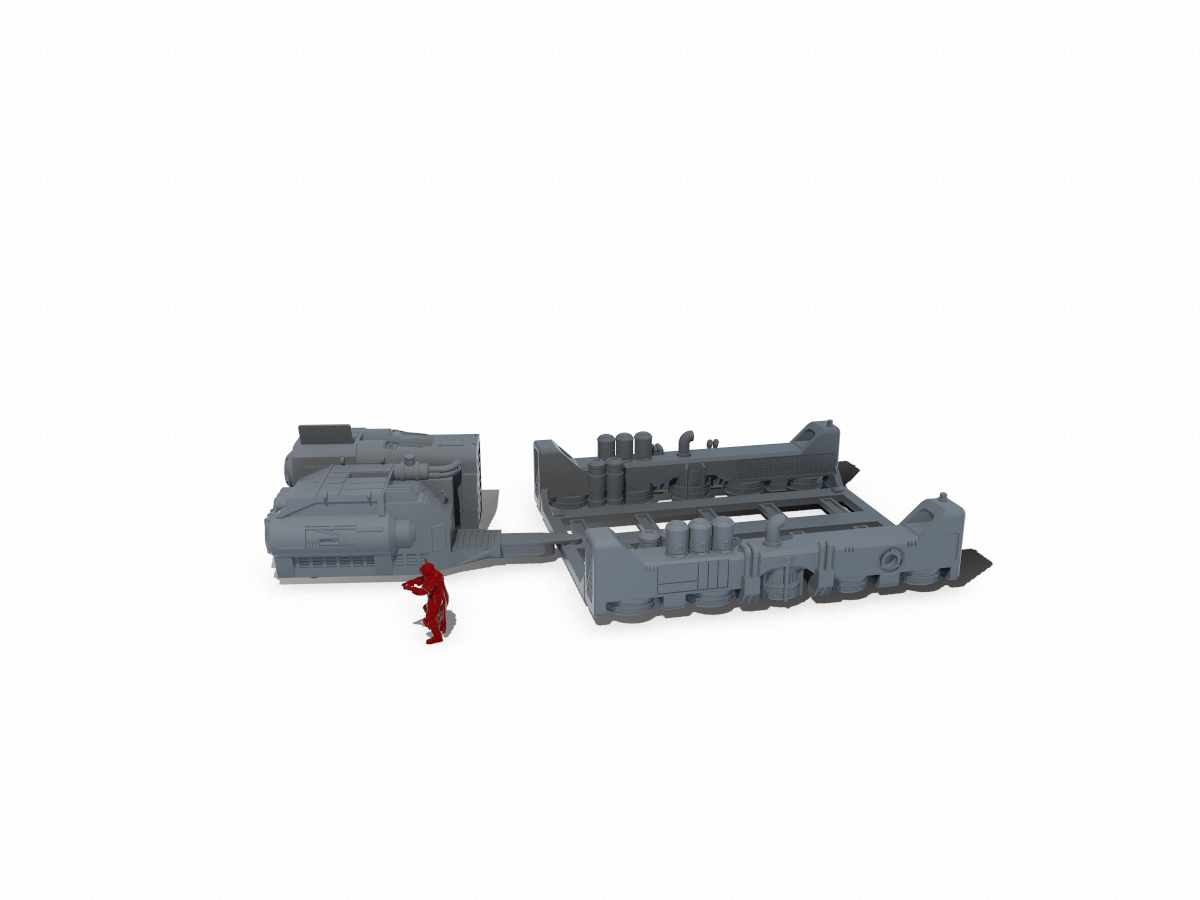 Repulsor Tug and Barge - Digital STL Files