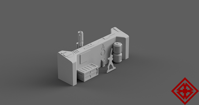 Modular Landing Bay Set - Digital STL Files