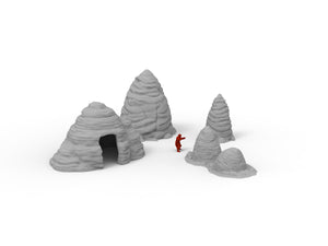 Rock Mounds - Digital STL Files