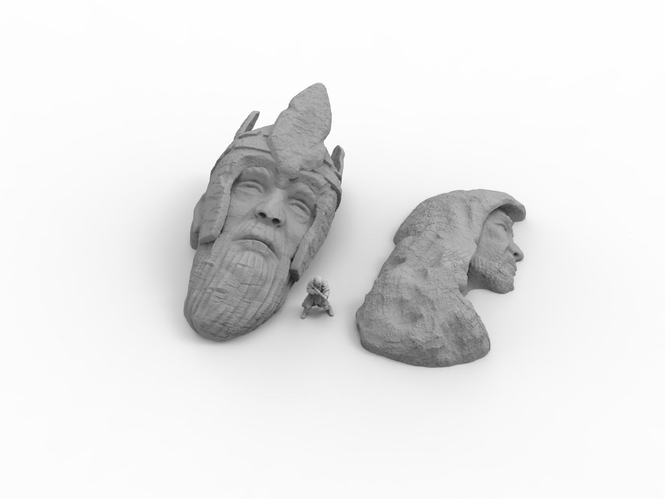 Ancient Ruins Heads - Digital STL Files