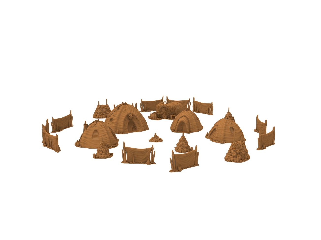 Desert Camp Set by Jesús - Digital STL Files