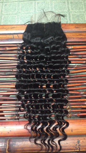 Mink Brazilian Deep Wave Lace Closure
