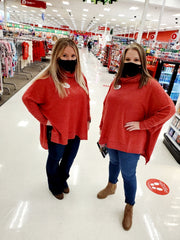 Beautiful red clothing for Target Employees