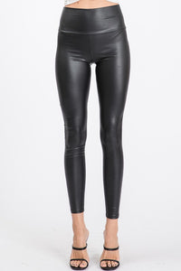 Bethany Black Faux Leather Slim Fit Leggings