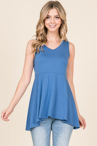 Rita Fit and Flare Empire Waist Sleeveless Top