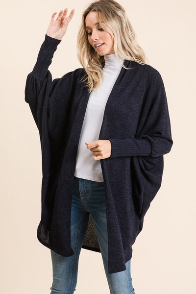 Lindsey Cocoon Style Open Front Cardigan