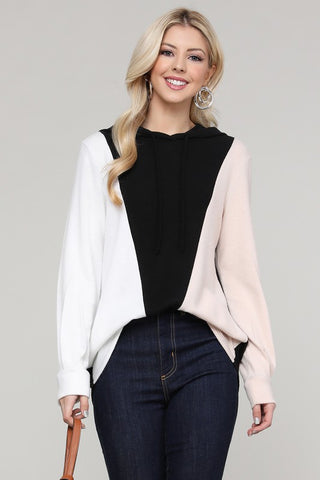 Cara Long Sleeve Color Block Top