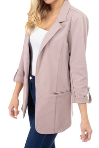 Josie Ponte Blazer with Snap Sleeves
