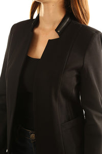Danielle Black Ponte Blazer with Zipper Detail