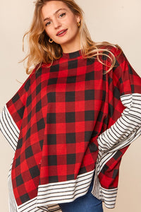 Stephanie Buffalo Plaid Color Block Tunic