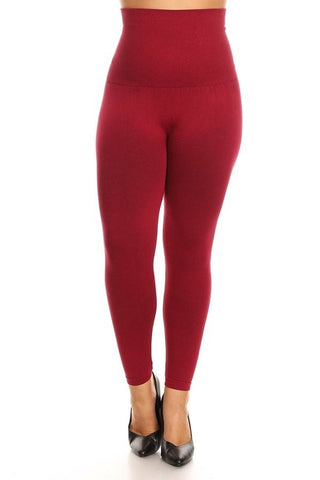 High Waist Leggings Plus Size