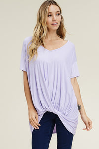 Daisy Lavender Loose Fit Short Sleeve Top