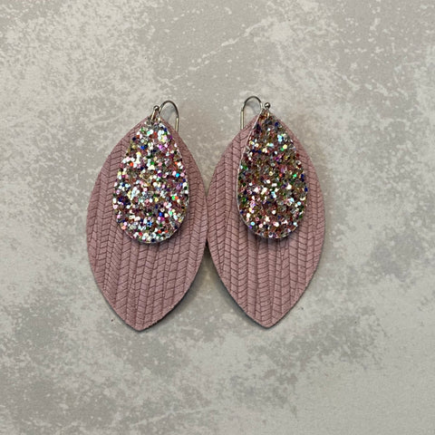 Confetti Glitter Palm Leaf Earrings