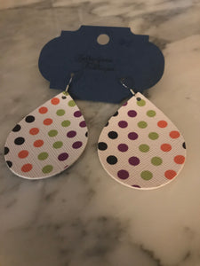 Multi-colored Polka Dot Teardrop Earrings