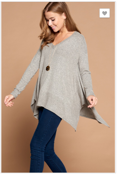 Kristen Hacci Sweater with Fishtail Hem