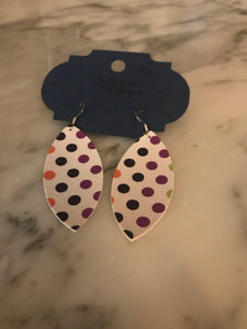 Multi-colored Polka Dot Marquise Earrings