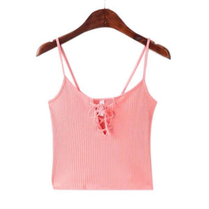 Front Cross Cropped Cami