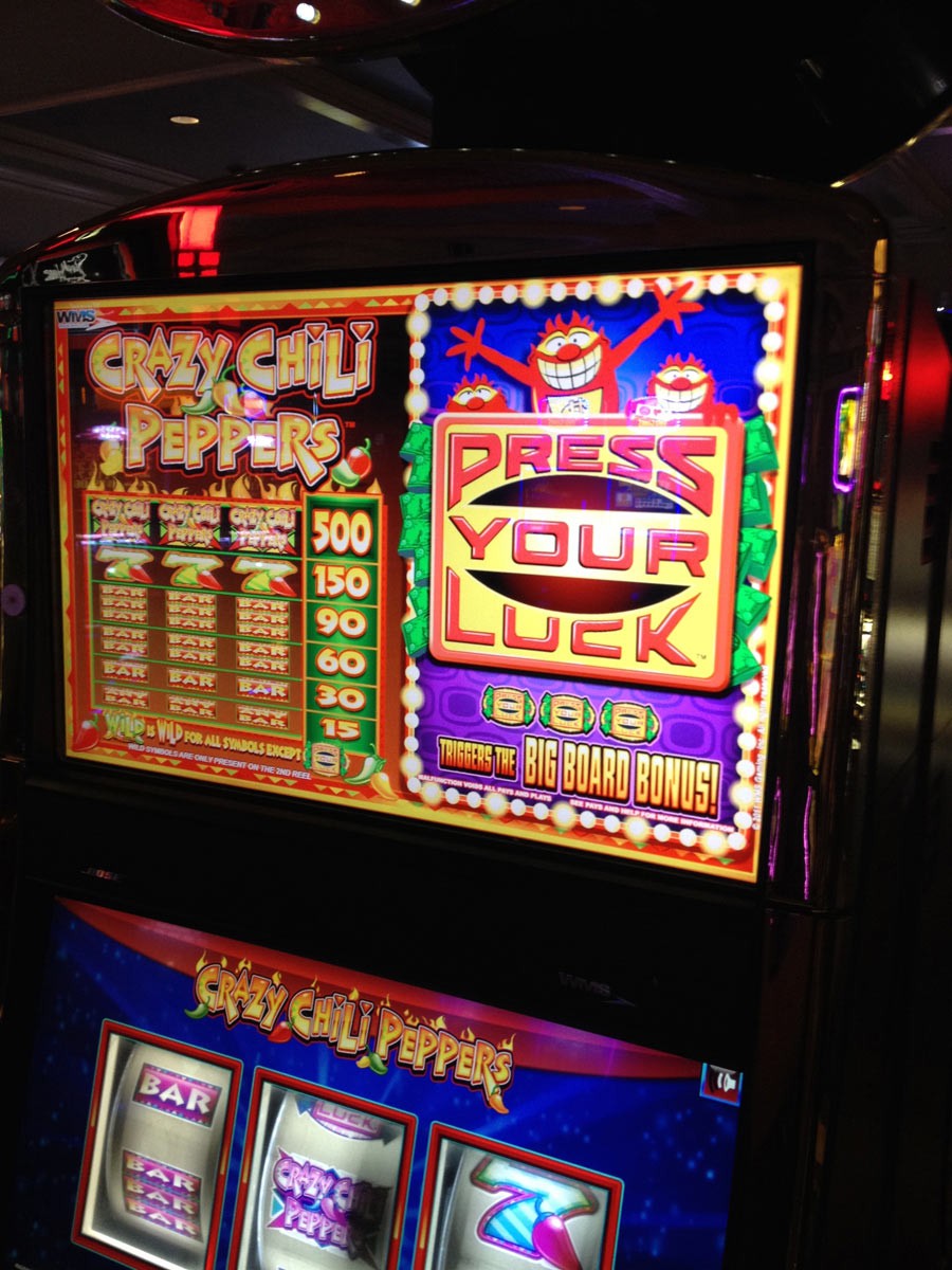 Press your luck casino game