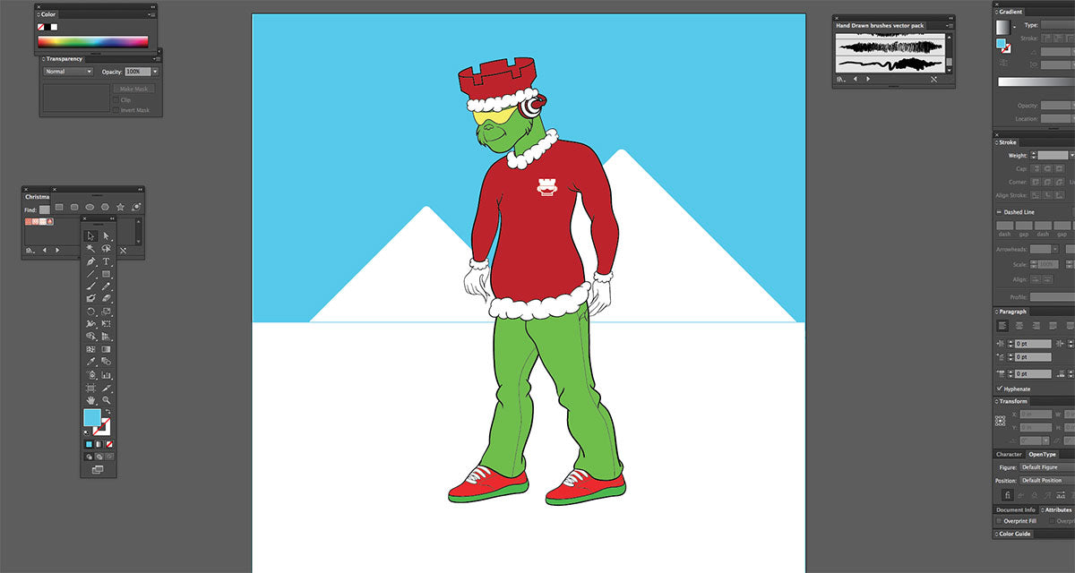 holiday mascot2