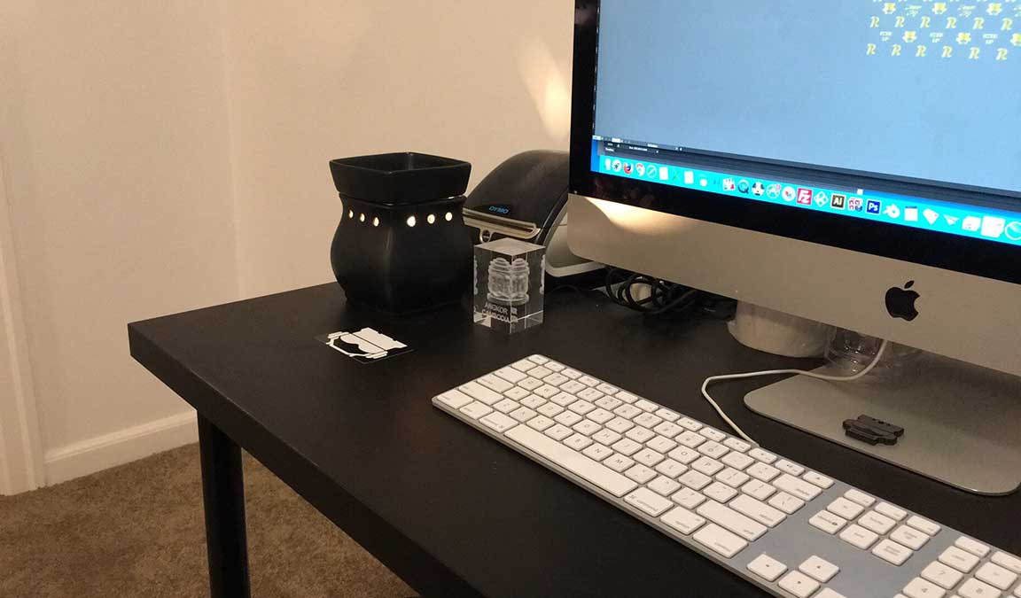 my desk scentsy