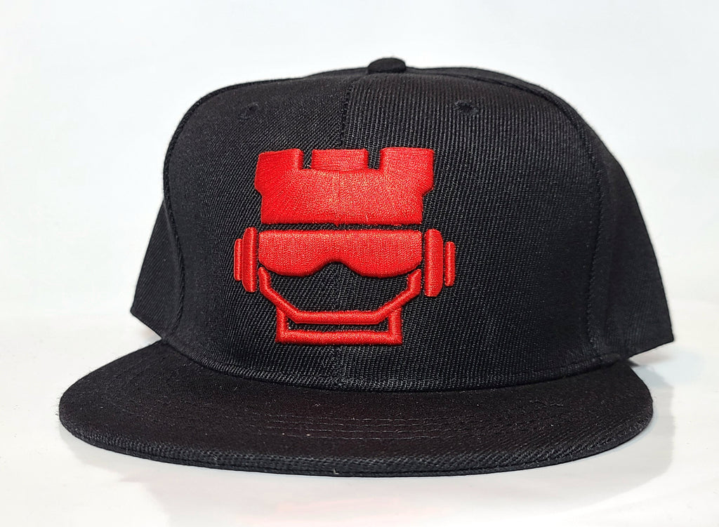 Rookface Black/Red Snapback Hat