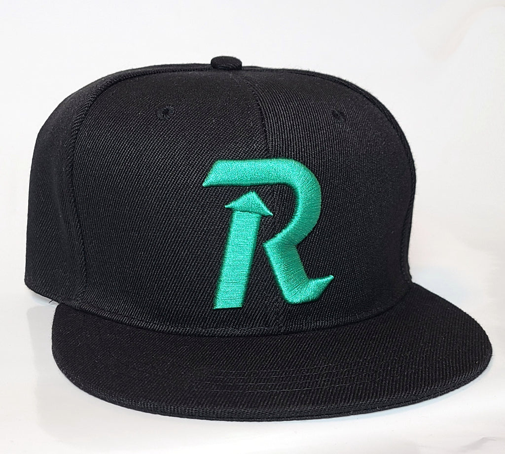 Letter Rise Black/Rookfoam Blue Snapback Hat