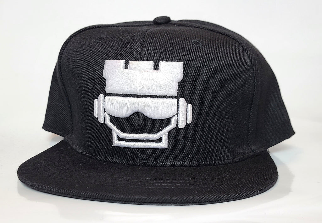 Rookface Black/White Snapback Hat