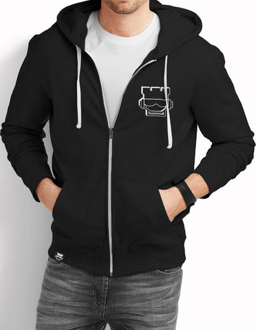 Extruded Full Zip Hoodie - Black - Rookie Rise Clothing