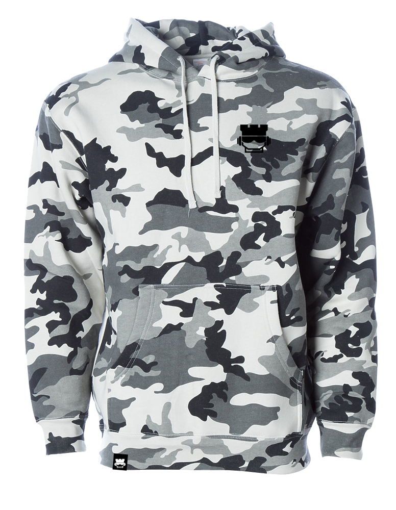 Lil Rookface Hooded Sweatshirt - White Camo