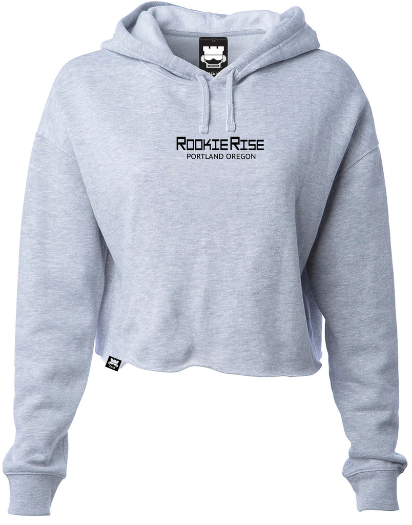 Rookland Crop Top Sweatshirt - Grey