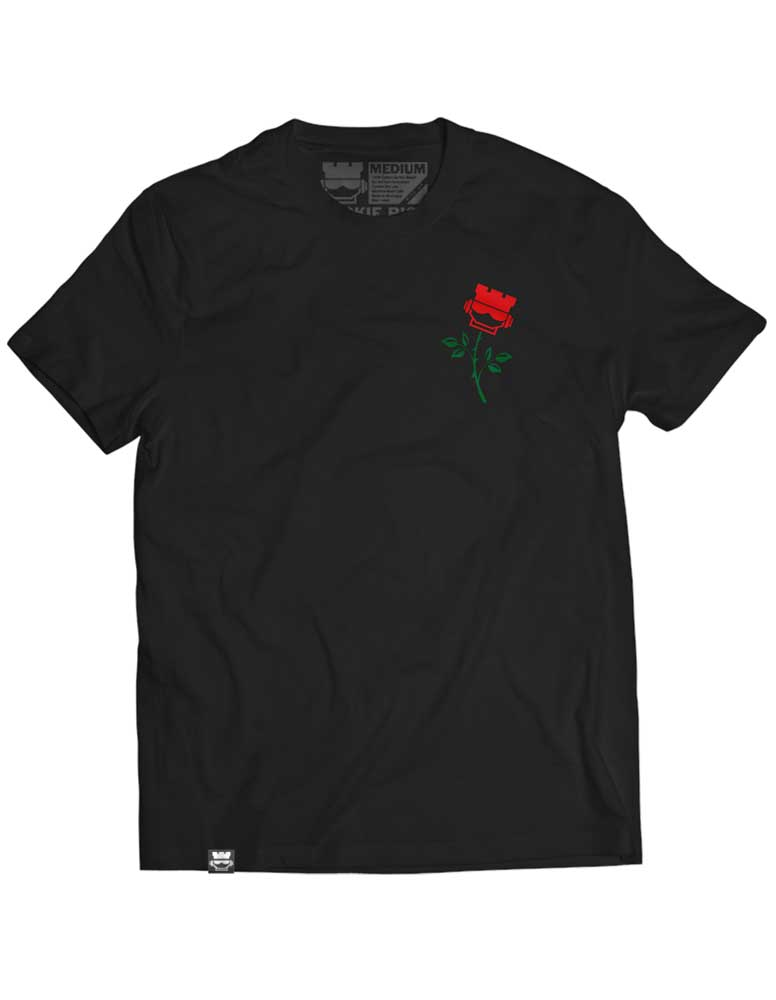 Rookie Rose Tee - Mens Black - Rookie Rise Clothing
