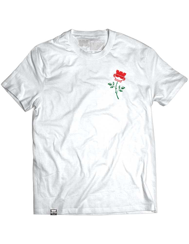 Rookie Rose - Mens White Tee - Rookie Rise Clothing