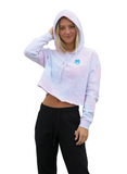 Mini Rook Crop Top Sweatshirt - Tie Dye Blue Pink