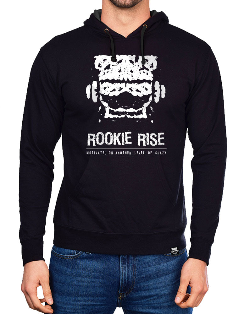 Copy of Crazy Motivated Hoodie - Black/White - Rookie Rise Clothing