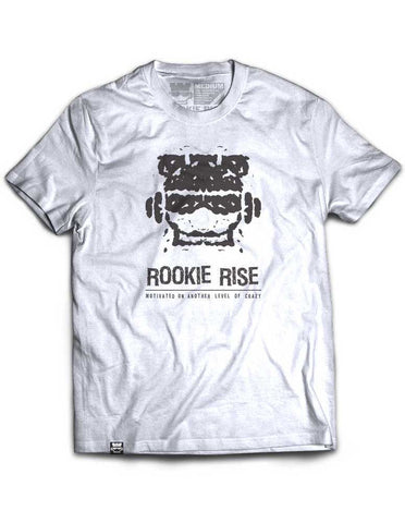 Crazy Motivated Tee - White - Rookie Rise Clothing
