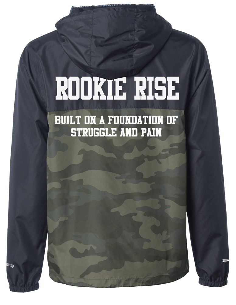 Foundation Windbreaker - Camo/Black - Rookie Rise Clothing