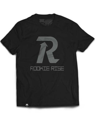 Letter Rise Tee - Black/Gray - Rookie Rise Clothing